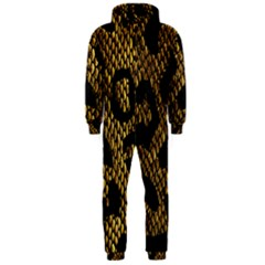 Metallic Snake Skin Pattern Hooded Jumpsuit (men)