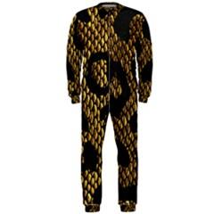 Metallic Snake Skin Pattern Onepiece Jumpsuit (men)