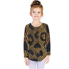 Metallic Snake Skin Pattern Kids  Long Sleeve Tee