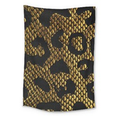 Metallic Snake Skin Pattern Large Tapestry by BangZart