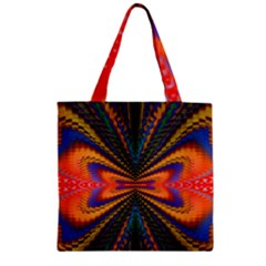 Casanova Abstract Art Colors Cool Druffix Flower Freaky Trippy Zipper Grocery Tote Bag by BangZart