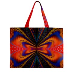 Casanova Abstract Art Colors Cool Druffix Flower Freaky Trippy Medium Zipper Tote Bag