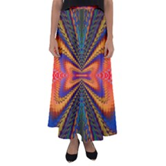 Casanova Abstract Art Colors Cool Druffix Flower Freaky Trippy Flared Maxi Skirt