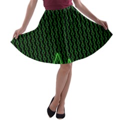 01 Numbers A Line Skater Skirt