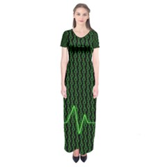 01 Numbers Short Sleeve Maxi Dress