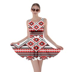 Consecutive Knitting Patterns Vector Skater Dress