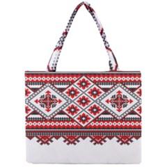 Consecutive Knitting Patterns Vector Mini Tote Bag by BangZart
