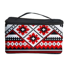 Consecutive Knitting Patterns Vector Cosmetic Storage Case by BangZart
