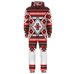 Consecutive Knitting Patterns Vector Hooded Jumpsuit (men)