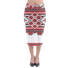 Consecutive Knitting Patterns Vector Midi Pencil Skirt