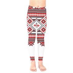 Consecutive Knitting Patterns Vector Kids  Leggings