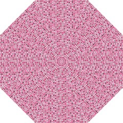 Abstract Pink Squares Straight Umbrellas by BangZart