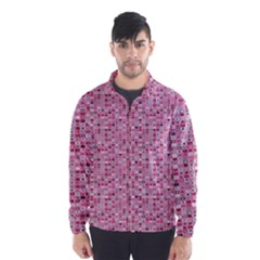 Abstract Pink Squares Wind Breaker (men)