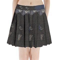 World Map Pleated Mini Skirt by BangZart