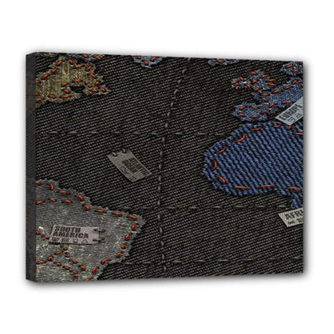 World Map Canvas 14  x 11