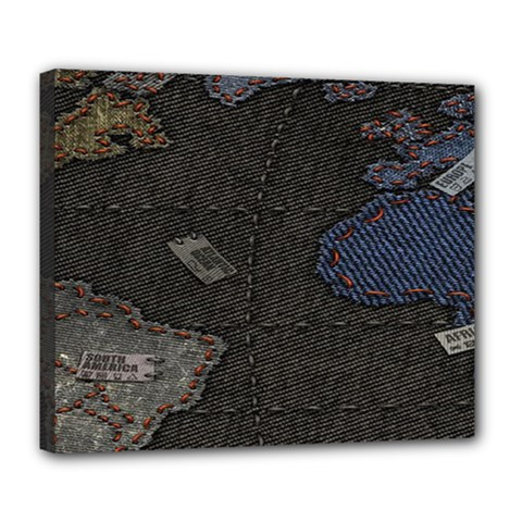 World Map Deluxe Canvas 24  X 20