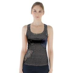World Map Racer Back Sports Top