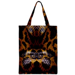 Textures Snake Skin Patterns Zipper Classic Tote Bag by BangZart