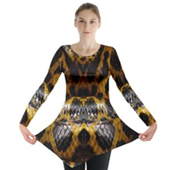 Textures Snake Skin Patterns Long Sleeve Tunic