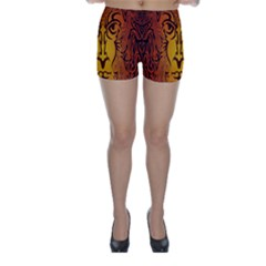 Lion Man Tribal Skinny Shorts