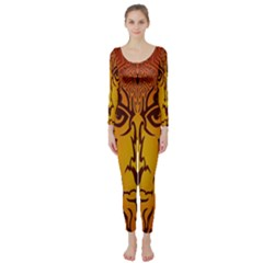 Lion Man Tribal Long Sleeve Catsuit