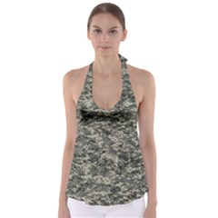 Us Army Digital Camouflage Pattern Babydoll Tankini Top