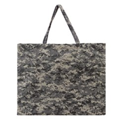 Us Army Digital Camouflage Pattern Zipper Large Tote Bag by BangZart