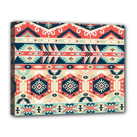 Aztec Pattern Copy Canvas 14  X 11  by BangZart