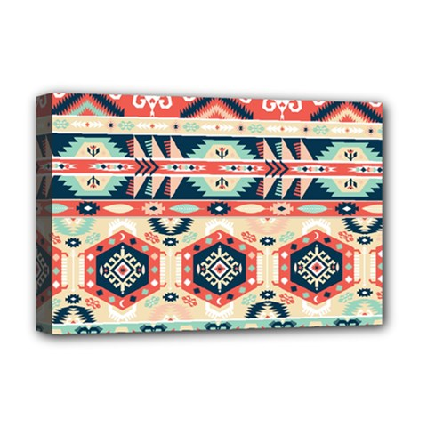 Aztec Pattern Copy Deluxe Canvas 18  X 12   by BangZart