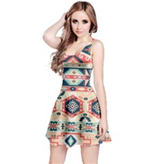 Aztec Pattern Copy Reversible Sleeveless Dress
