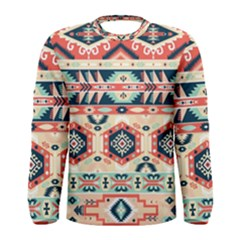 Aztec Pattern Copy Men s Long Sleeve Tee