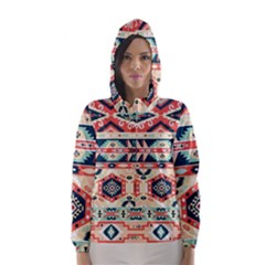 Aztec Pattern Copy Hooded Wind Breaker (women)