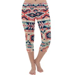 Aztec Pattern Copy Capri Yoga Leggings