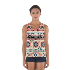 Aztec Pattern Copy Women s Sport Tank Top