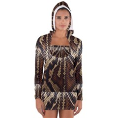 Snake Skin O Lay Women s Long Sleeve Hooded T Shirt