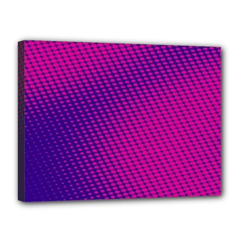 Purple Pink Dots Canvas 16  X 12  by BangZart