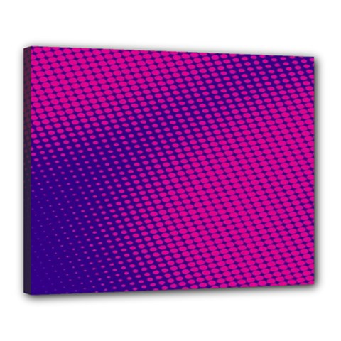 Purple Pink Dots Canvas 20  X 16  by BangZart