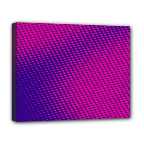 Purple Pink Dots Deluxe Canvas 20  X 16   by BangZart