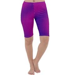 Purple Pink Dots Cropped Leggings
