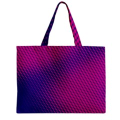 Purple Pink Dots Zipper Mini Tote Bag