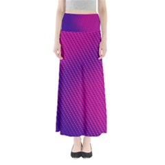 Purple Pink Dots Full Length Maxi Skirt