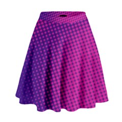Purple Pink Dots High Waist Skirt by BangZart