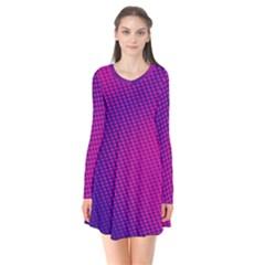 Purple Pink Dots Flare Dress