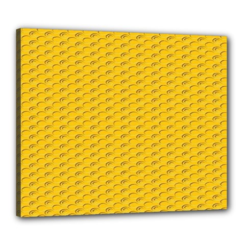 Yellow Dots Pattern Canvas 24  X 20  by BangZart