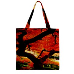 Maple Tree Nice Zipper Grocery Tote Bag