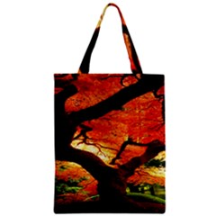 Maple Tree Nice Zipper Classic Tote Bag