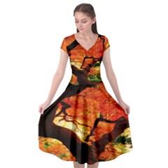 Maple Tree Nice Cap Sleeve Wrap Front Dress