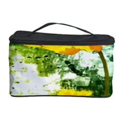 Yellow Flowers Cosmetic Storage Case