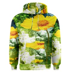 Yellow Flowers Men s Pullover Hoodie
