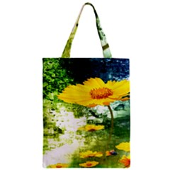 Yellow Flowers Zipper Classic Tote Bag by BangZart